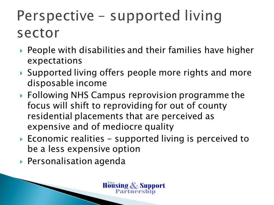 Perspective – supported living sector