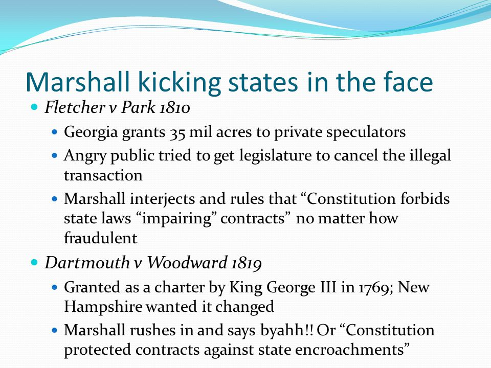 Marshall kicking states in the face