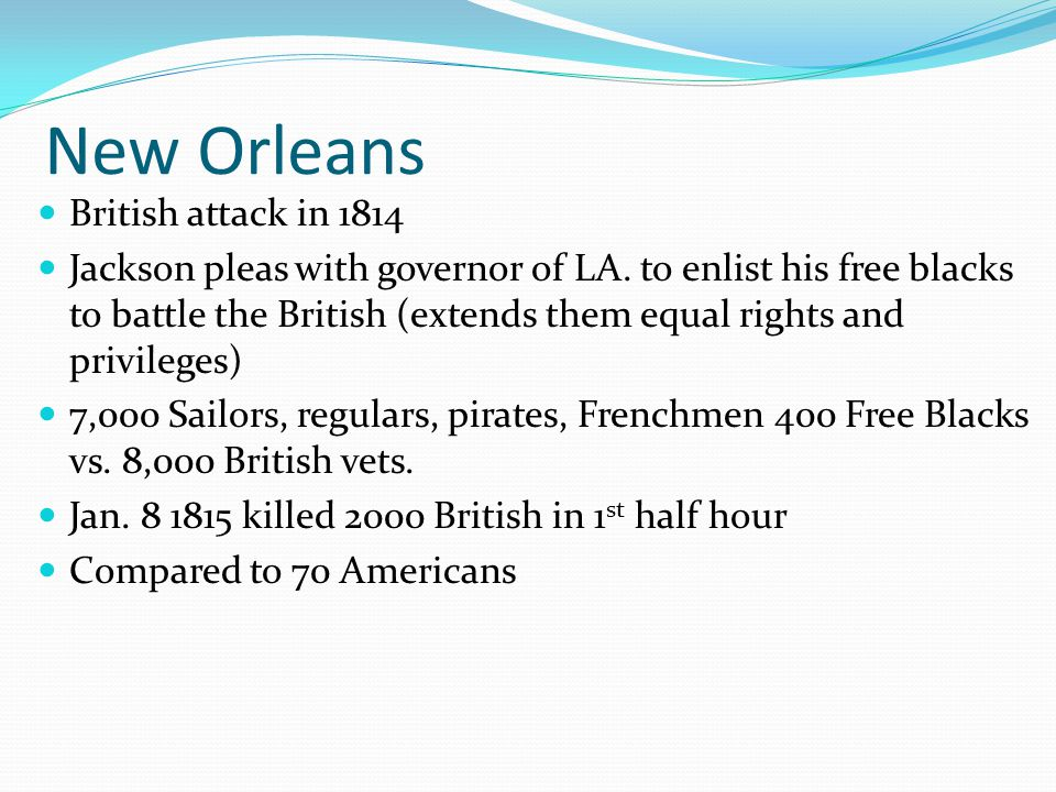 New Orleans British attack in 1814