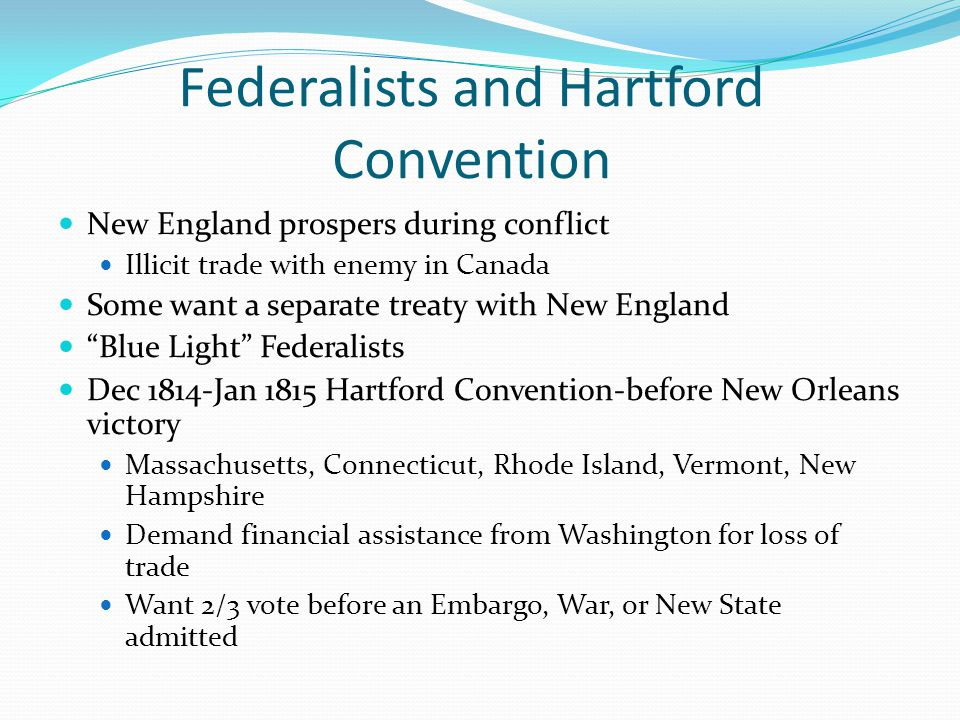 Federalists and Hartford Convention