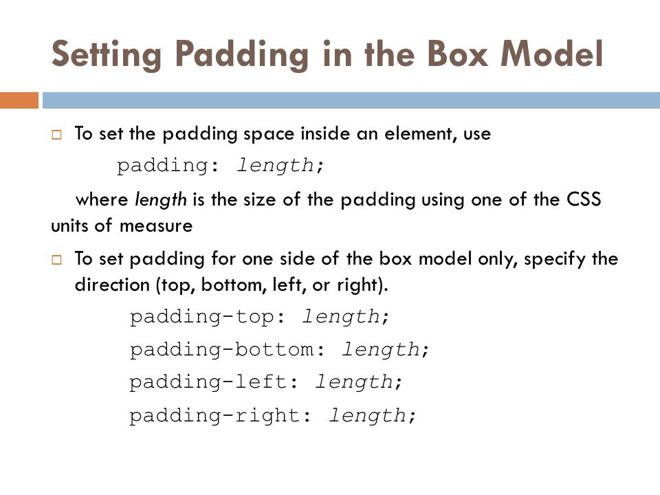Setting Padding in the Box Model