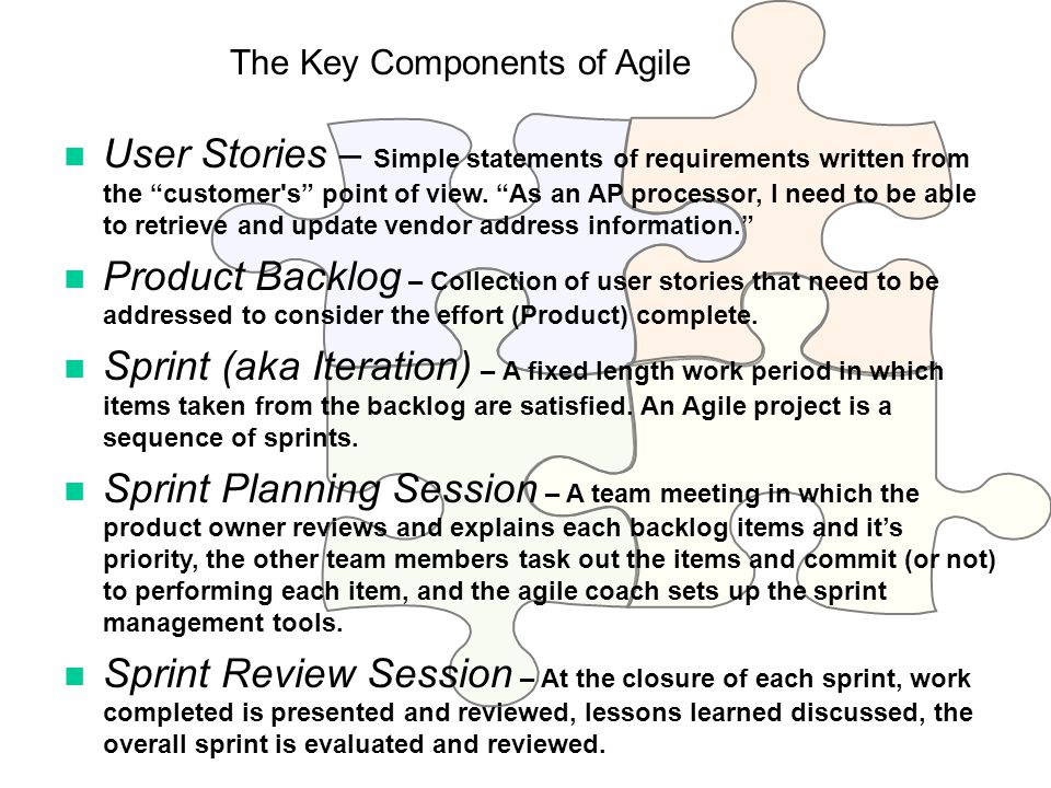 The Key Components of Agile