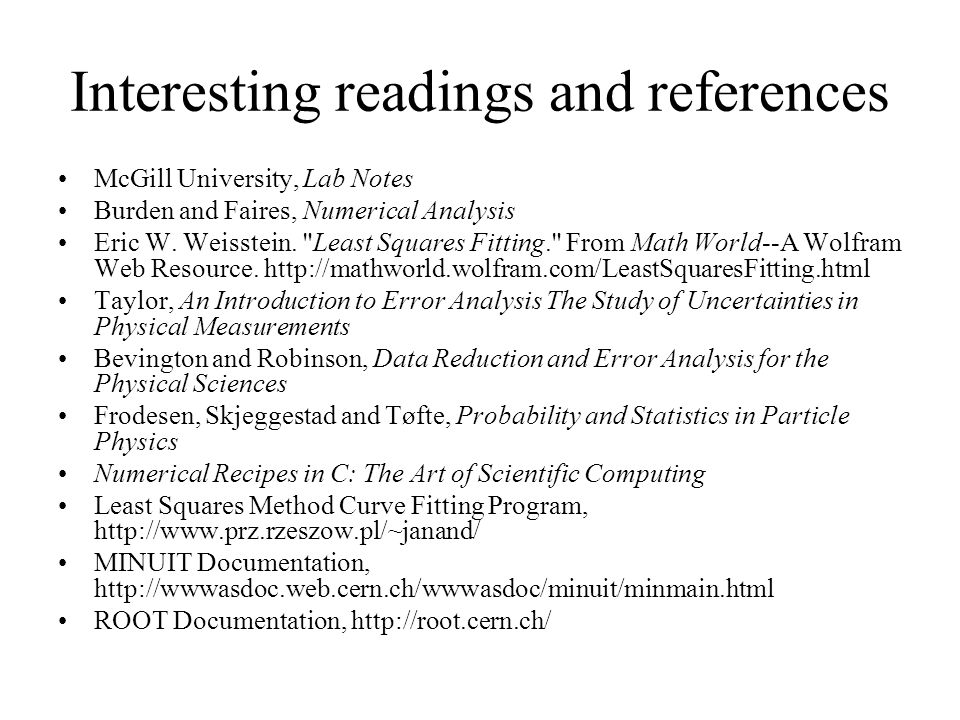 Interesting readings and references