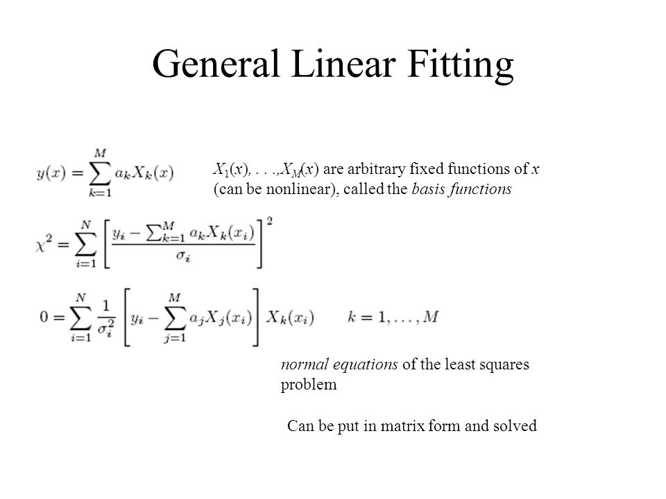General Linear Fitting