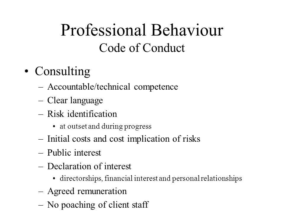 Professional Behaviour Code of Conduct