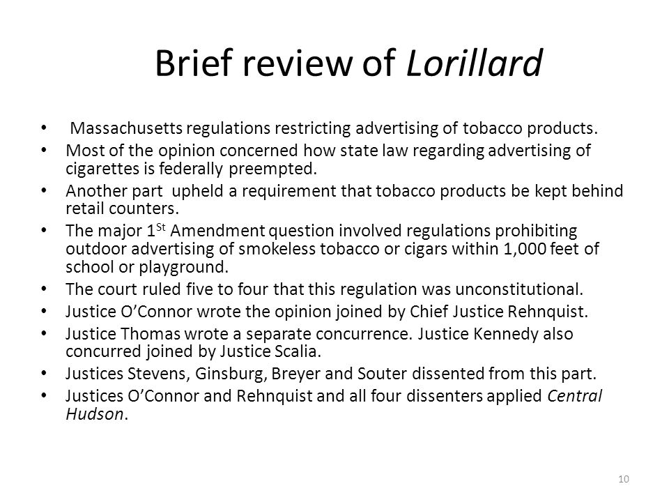 Brief review of Lorillard