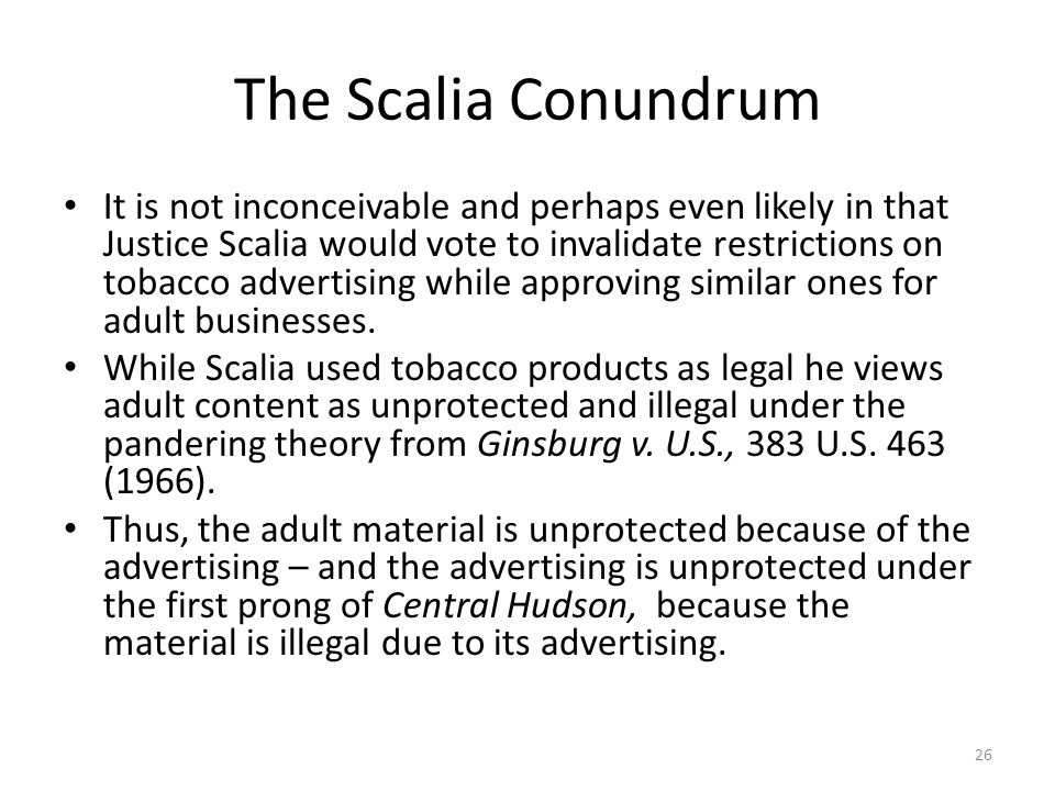 The Scalia Conundrum