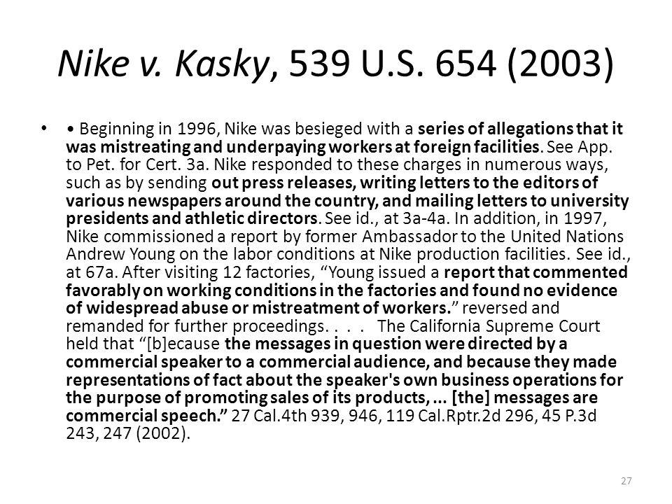 Nike v. Kasky, 539 U.S. 654 (2003)