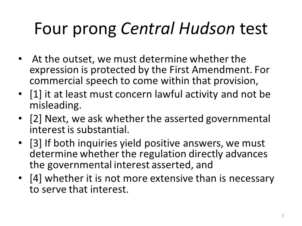 Four prong Central Hudson test