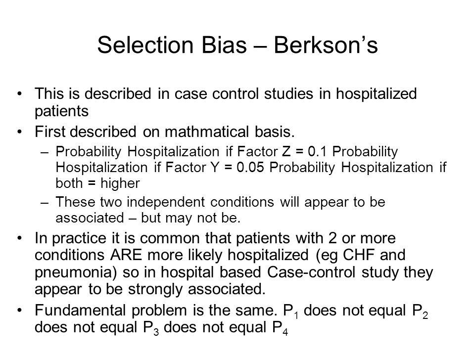 Selection Bias – Berkson's
