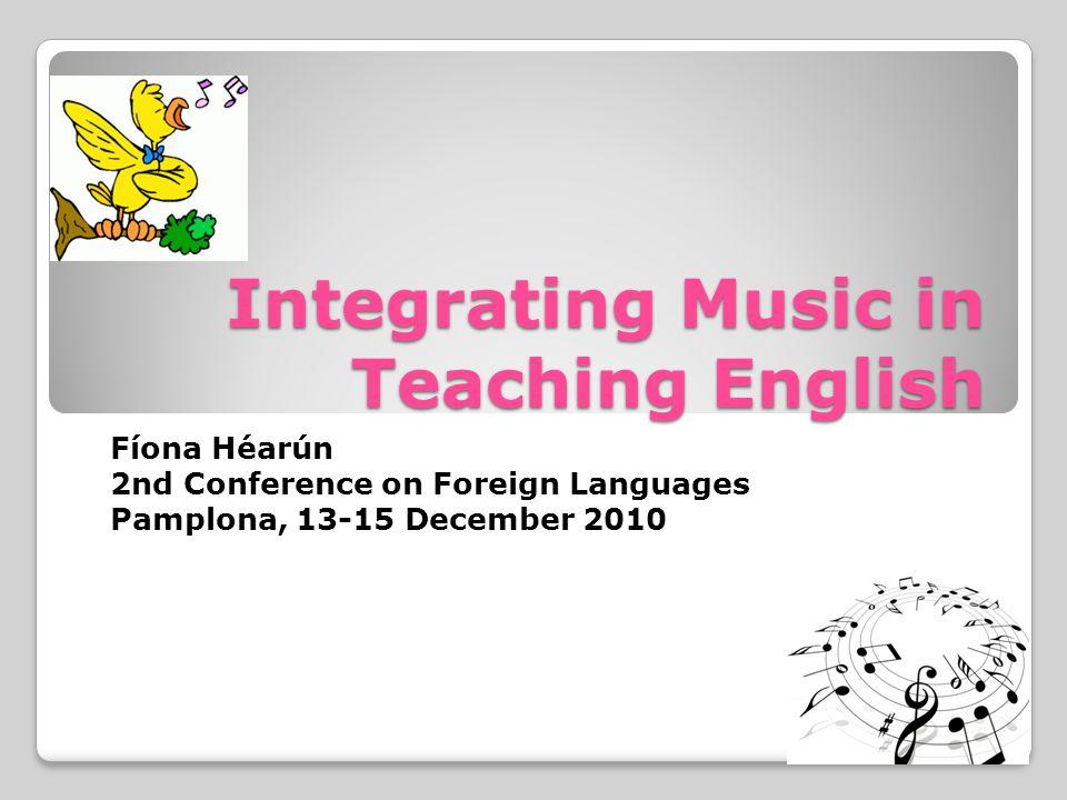 Integrating Music in Teaching English