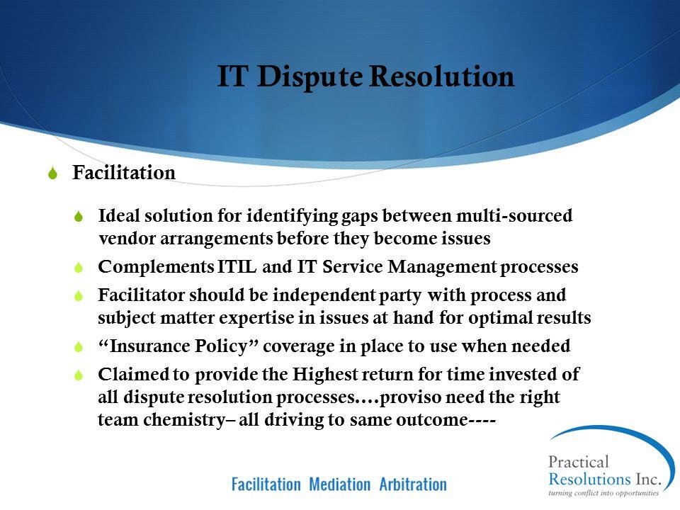 IT Dispute Resolution Facilitation