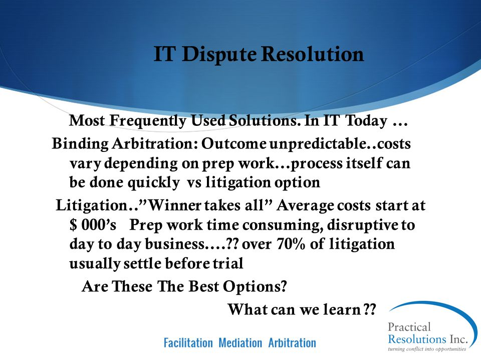 Most Frequently Used Solutions. In IT Today ...