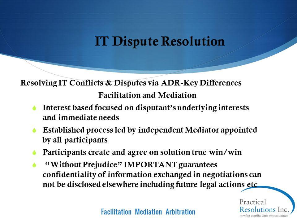 Facilitation and Mediation Facilitation and Mediation