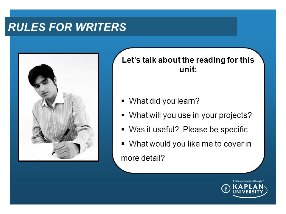 Let's talk about the reading for this unit: