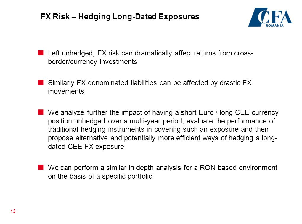 FX Risk – Hedging Long-Dated Exposures
