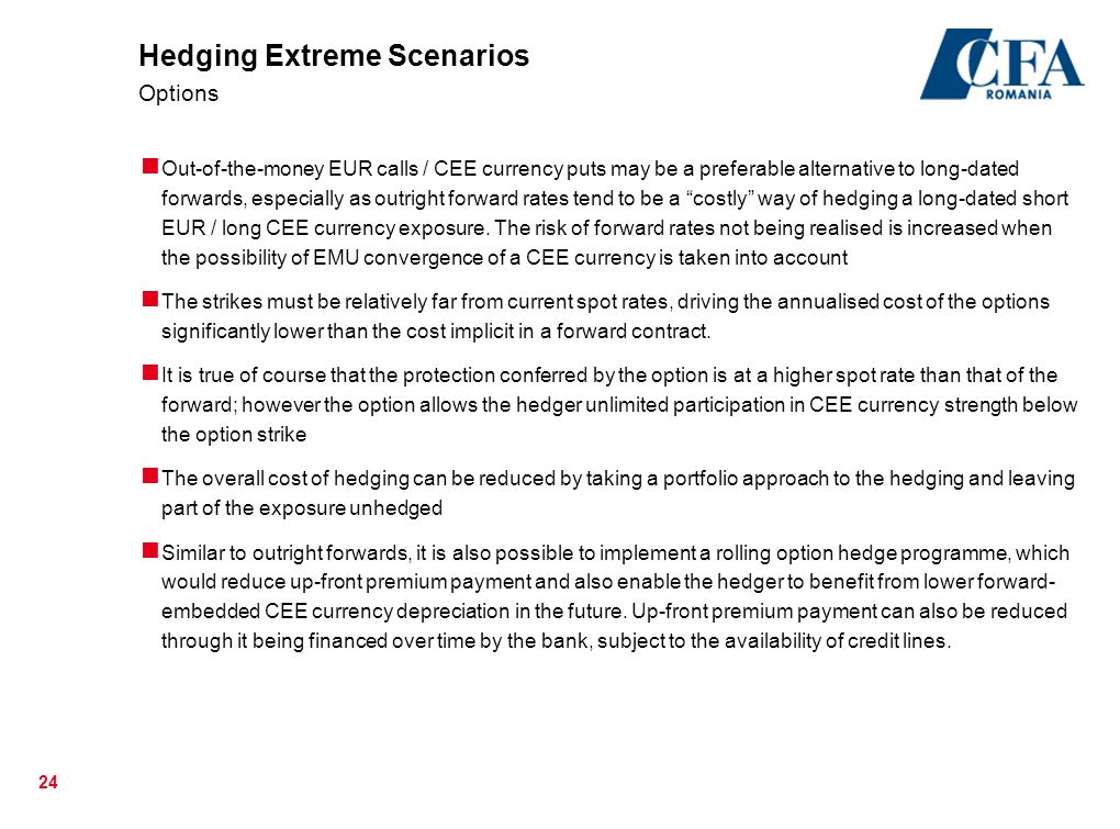 Hedging Extreme Scenarios Options
