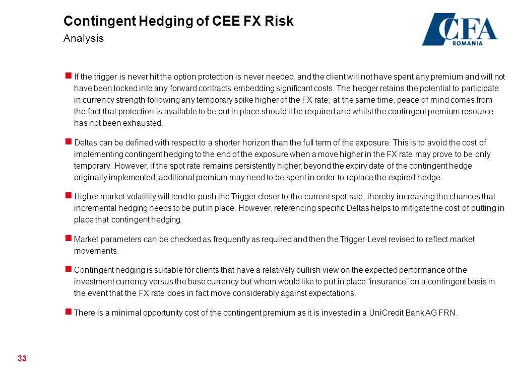 Contingent Hedging of CEE FX Risk Analysis