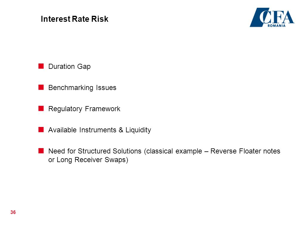 Interest Rate Risk Duration Gap Benchmarking Issues