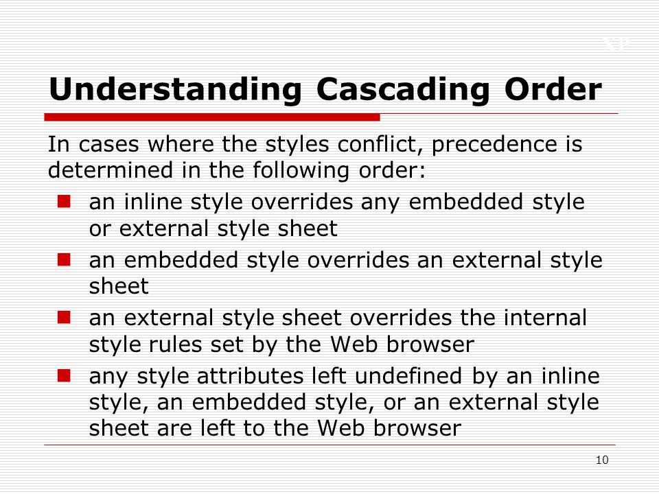 Understanding Cascading Order