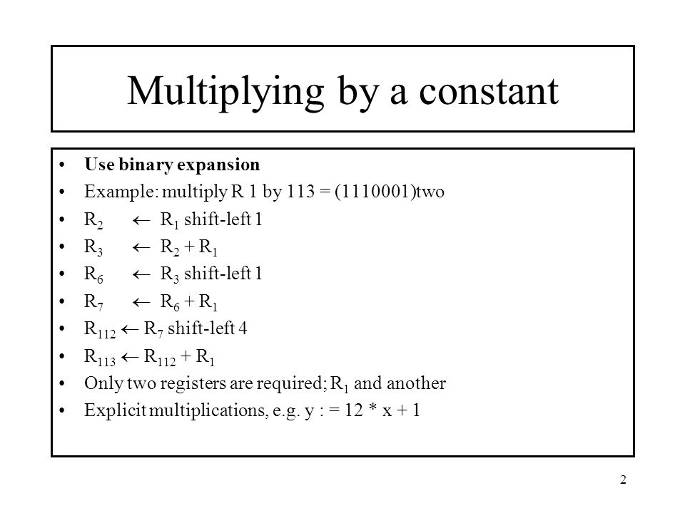 Multiplying by a constant