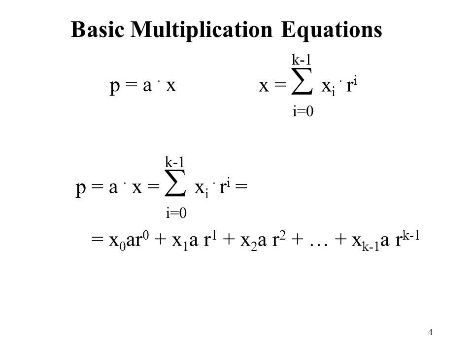Basic Multiplication Equations