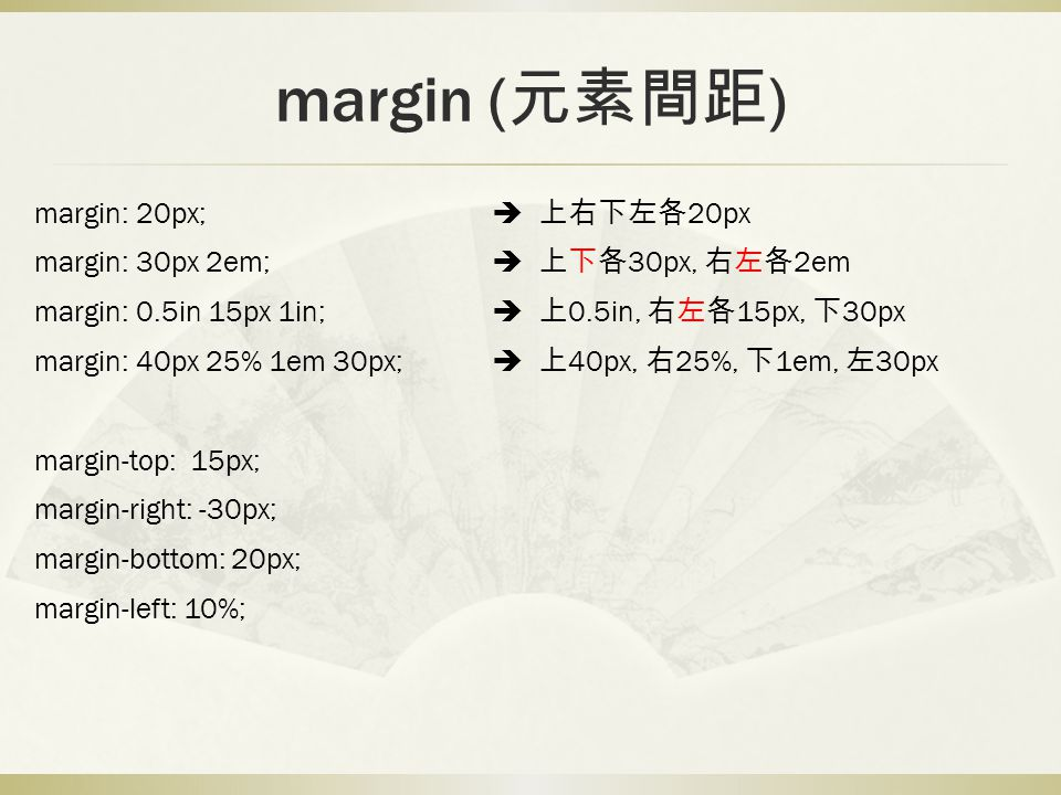 margin (元素間距)