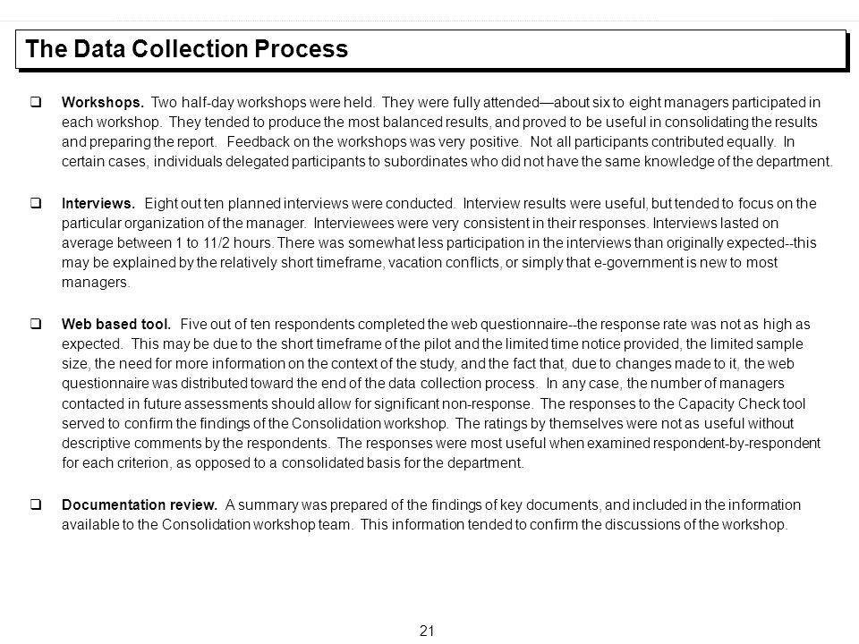 The Data Collection Process