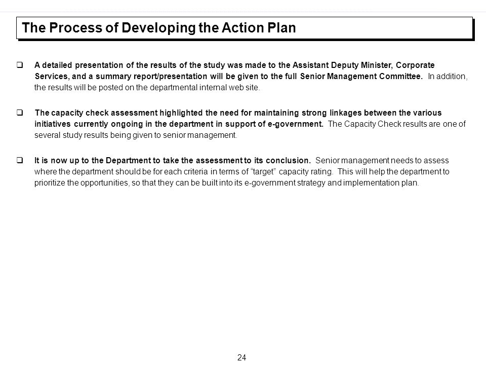 The Process of Developing the Action Plan