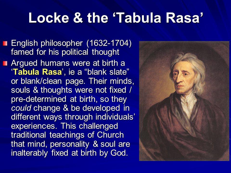 Locke & the 'Tabula Rasa'
