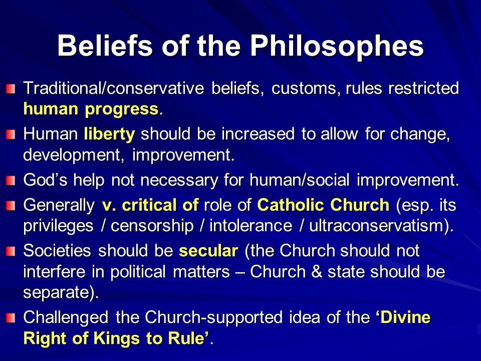 Beliefs of the Philosophes