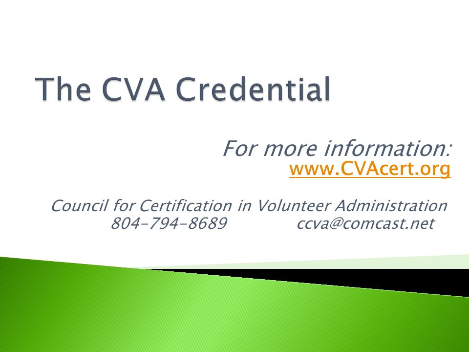 Council for Certification in Volunteer Administration