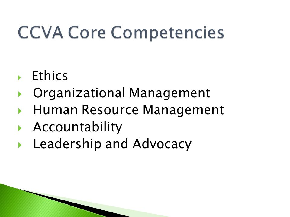 CCVA Core Competencies