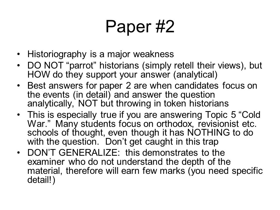 exam reminders ppt 5 paper 2 historiography