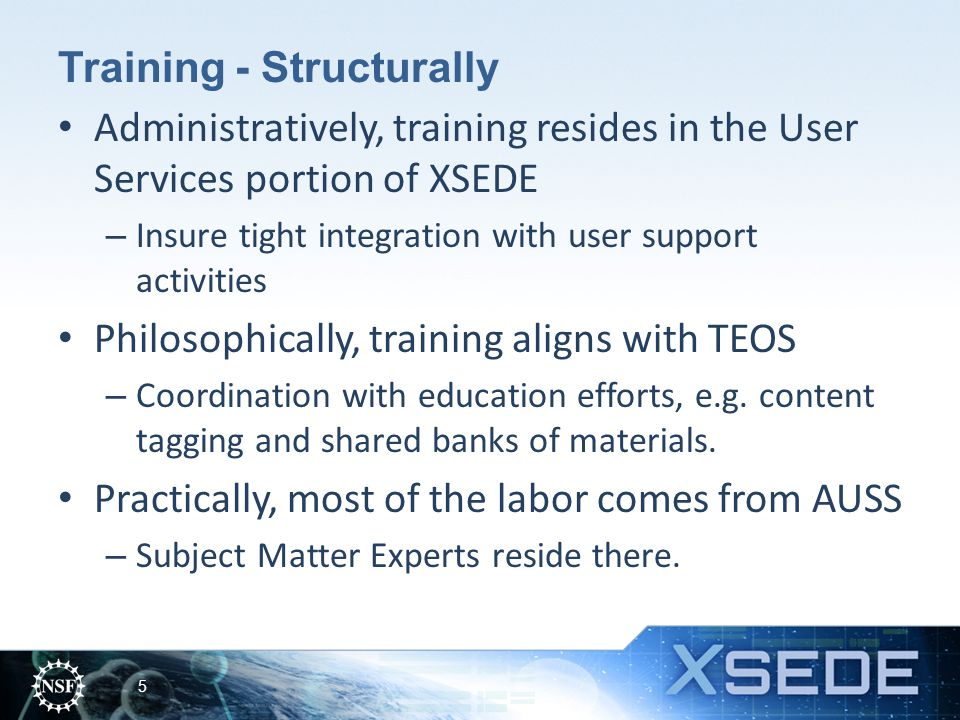 Training - Structurally