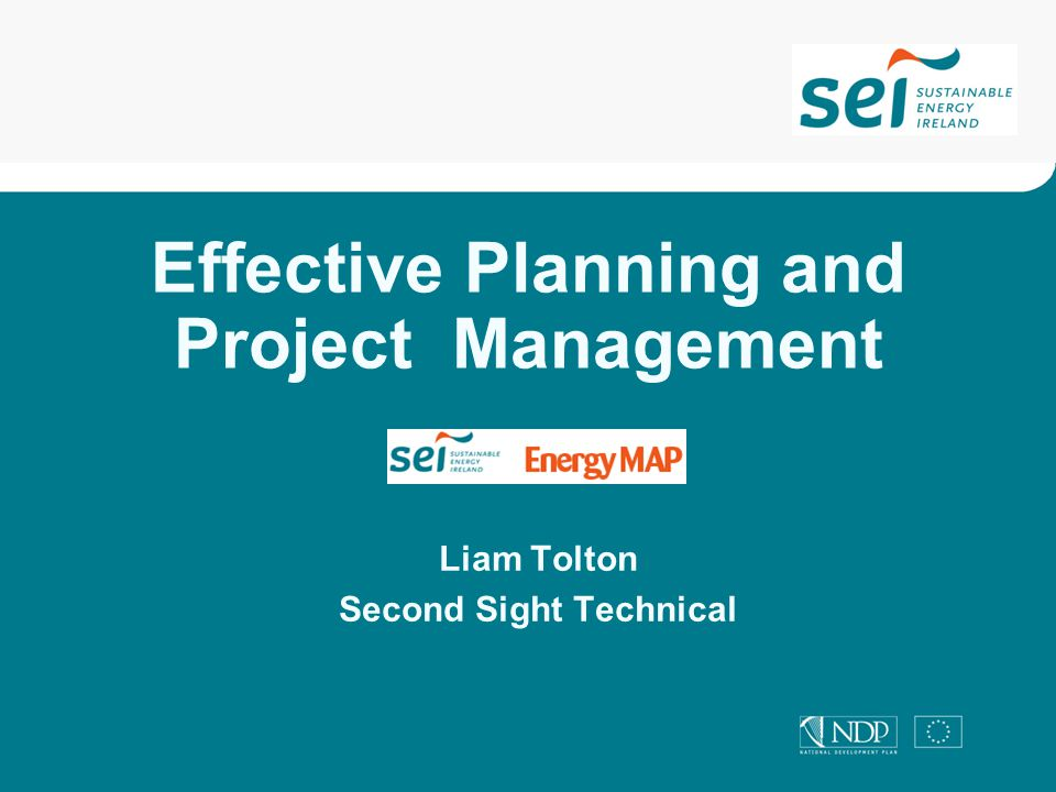 Effective Planning and Project Management