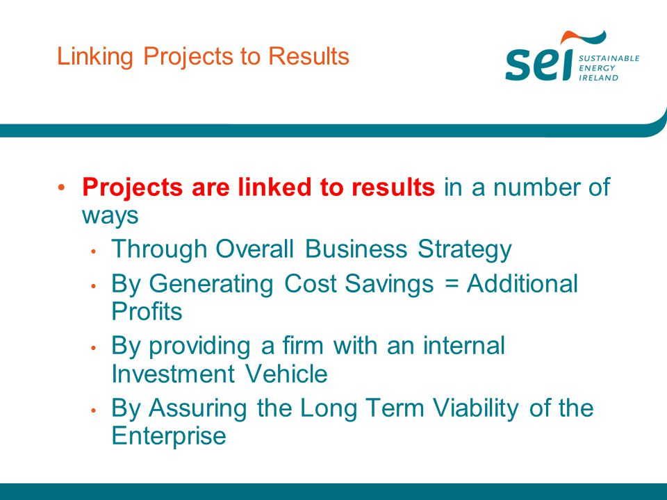 Linking Projects to Results