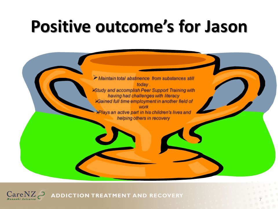 Positive outcome's for Jason