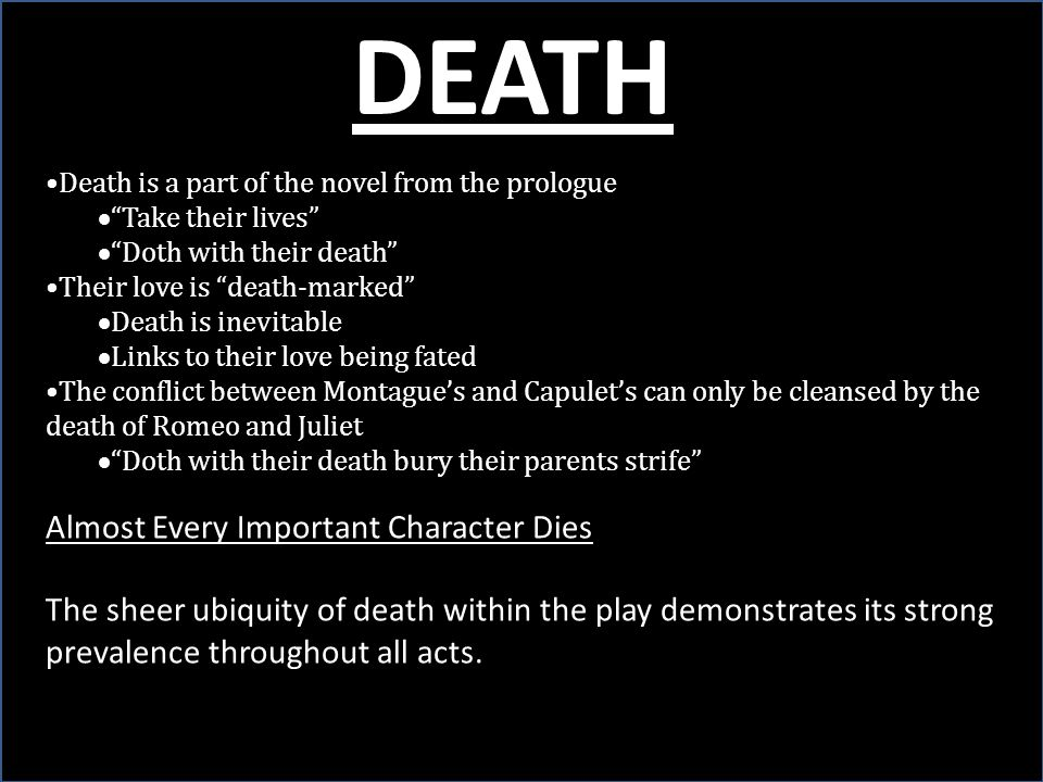 DEATH Almost Every Important Character Dies