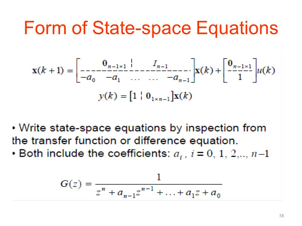 Form of State-space Equations