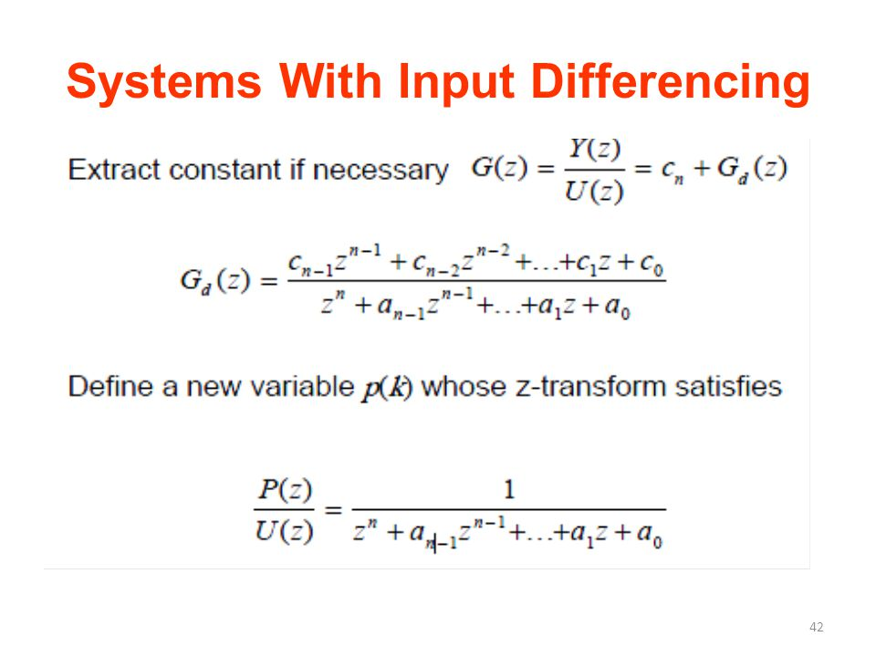 Systems With Input Differencing