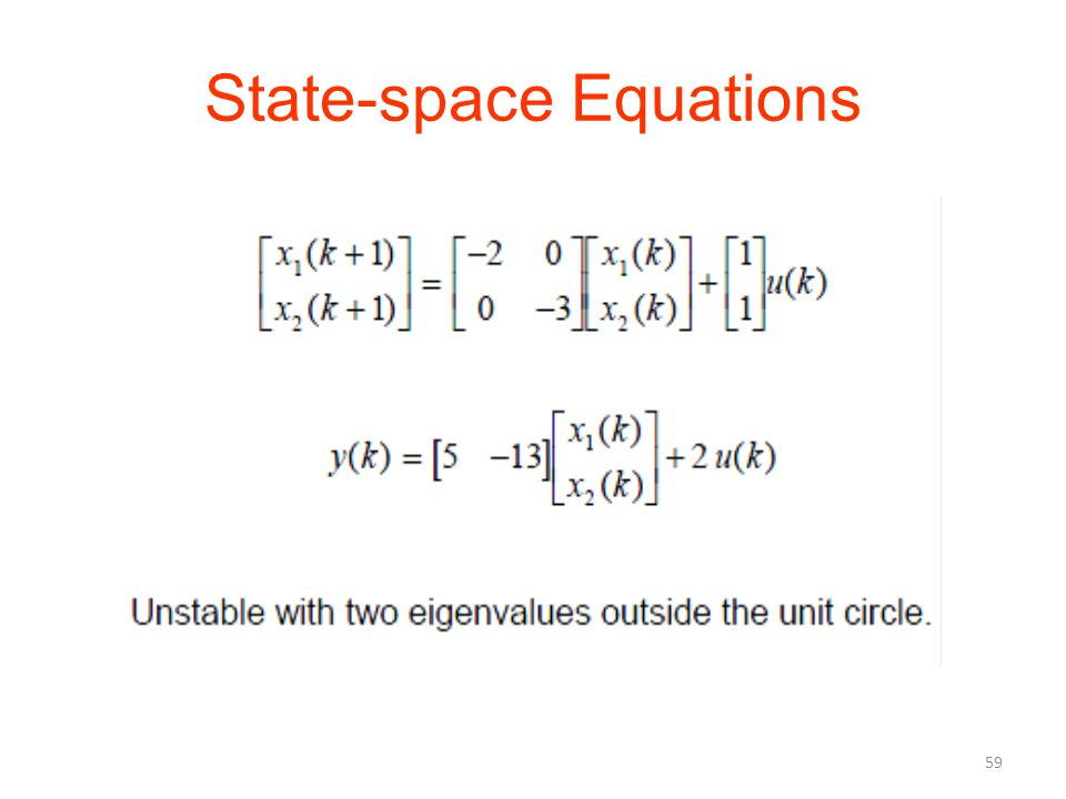 State-space Equations