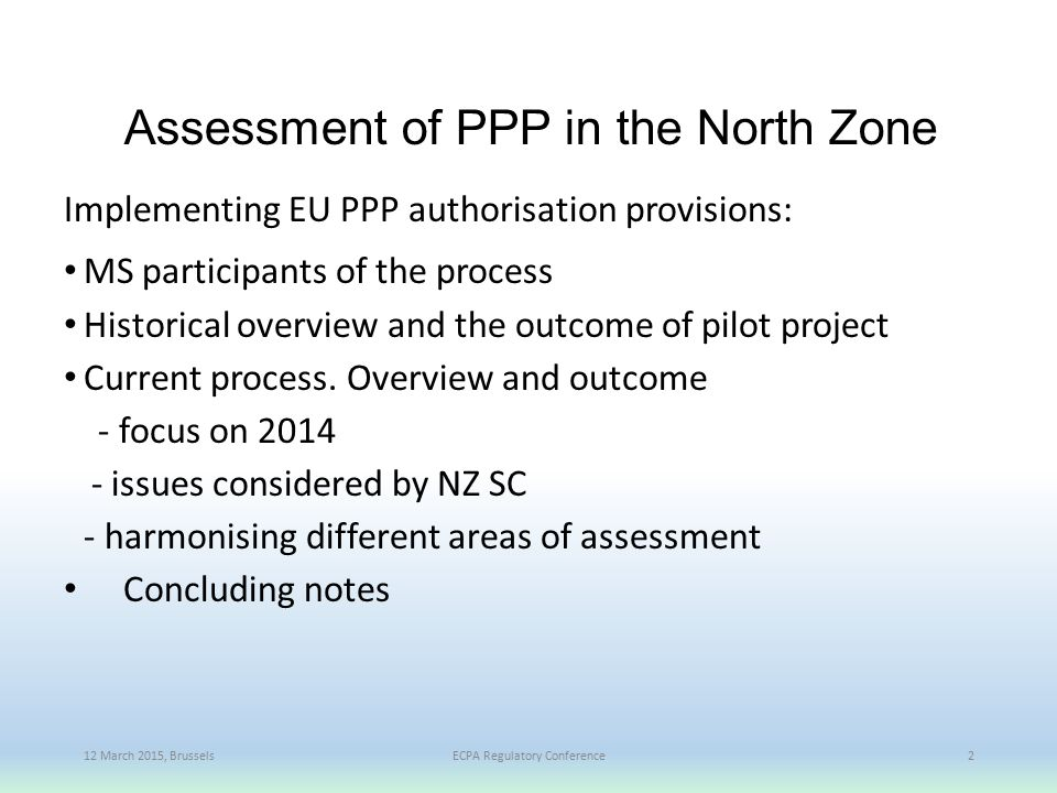 Assessment of PPP in the North Zone