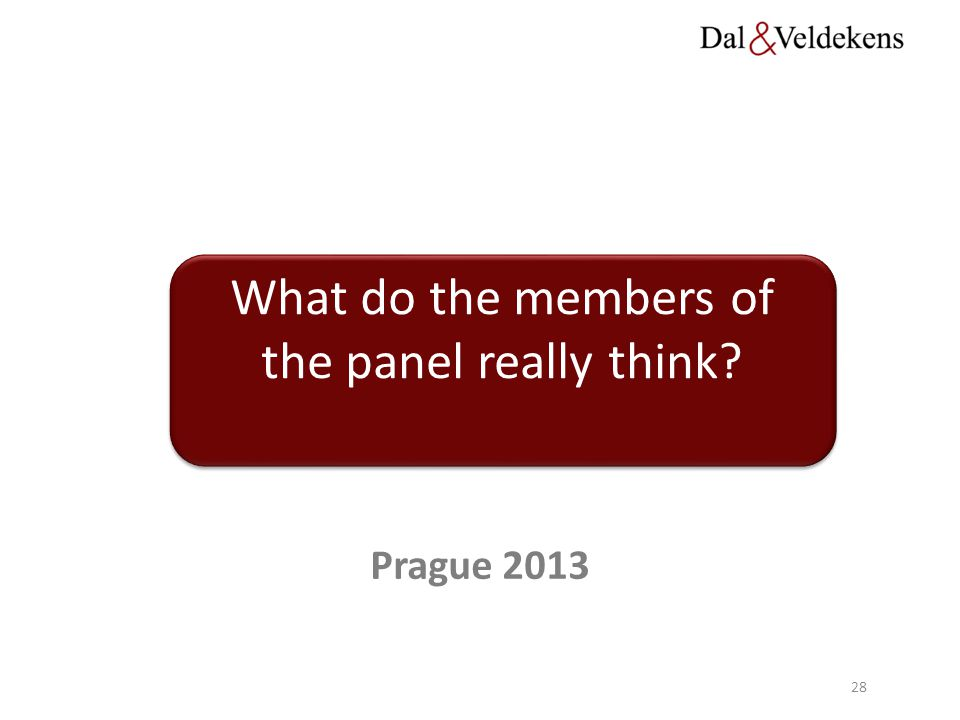 What do the members of the panel really think