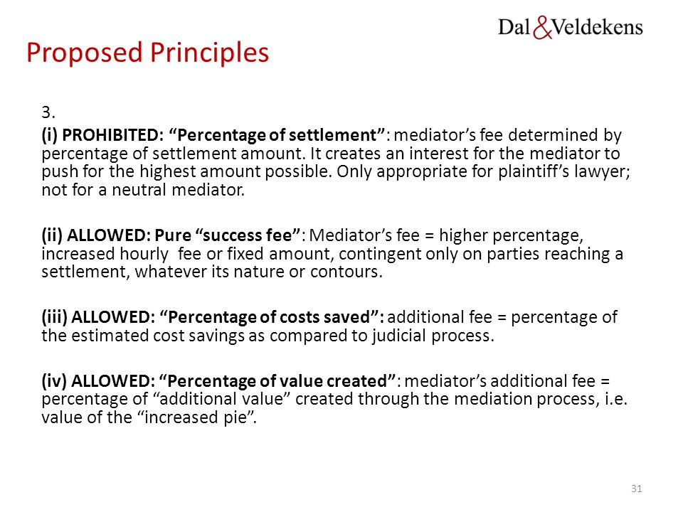 Proposed Principles