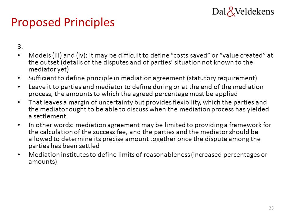 Proposed Principles 3.