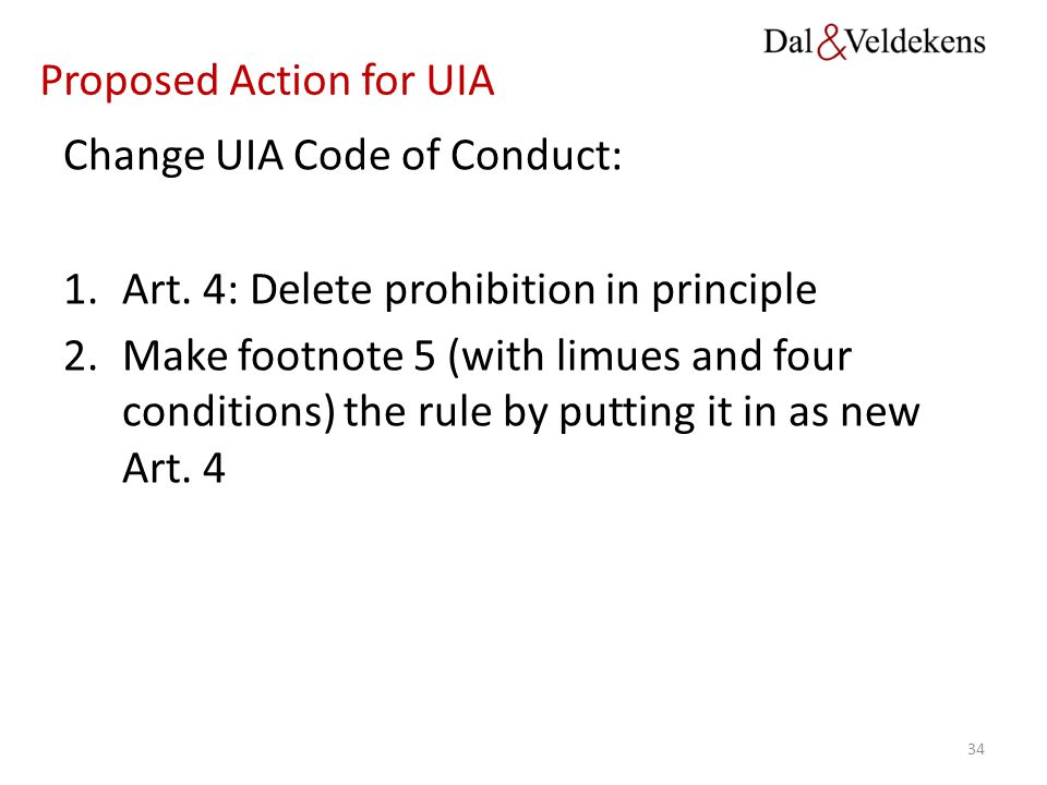 Proposed Action for UIA