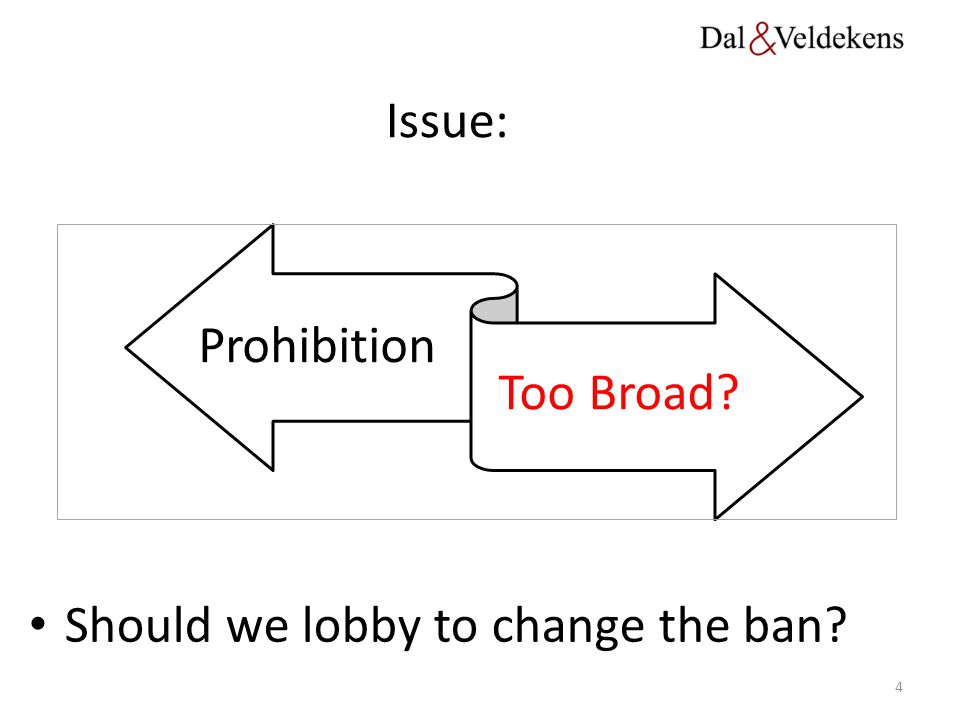 Should we lobby to change the ban