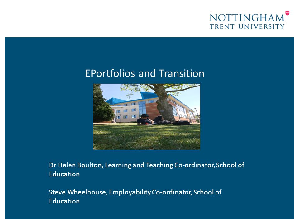 EPortfolios and Transition