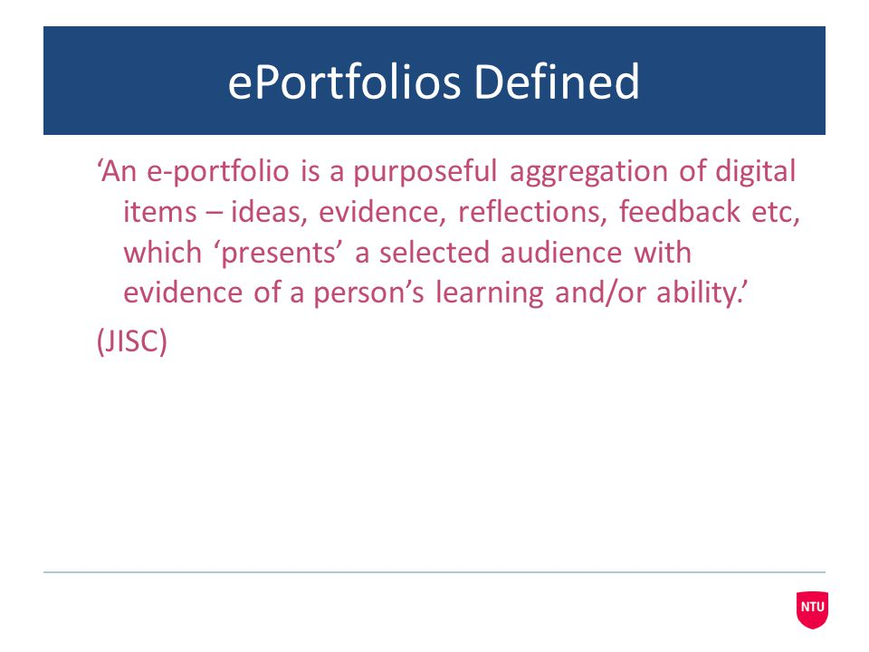 ePortfolios Defined